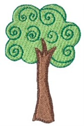 Dinky Doodle Tree embroidery design