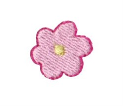 Dinky Doodle Pink Flower embroidery design
