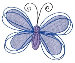 Dinky Doodle Butterfly embroidery design
