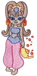 Blonde Genie embroidery design