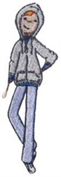 Boy & Hoodie embroidery design