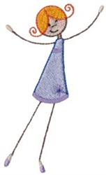 Dancing Girl embroidery design