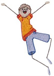 Happy Little Boy embroidery design