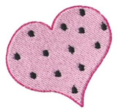 Polka Dotted Heart embroidery design