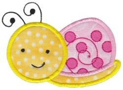 Spring Snail Applique embroidery design