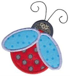 Spring Ladybug Applique embroidery design