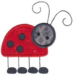Cute Ladybug Applique embroidery design