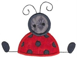 Sitting Ladybug Applique embroidery design