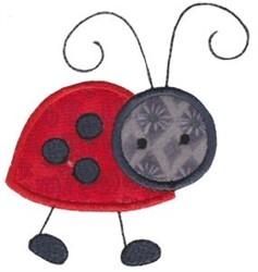 Springtime Ladybug Applique embroidery design