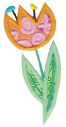 Spring Tulip Applique embroidery design