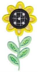 Spring Daisy Applique embroidery design