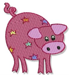 Playtime Pig embroidery design