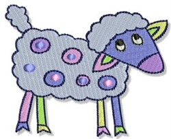 Playtime Sheep embroidery design