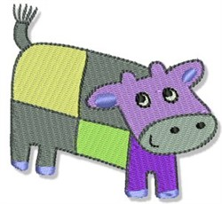 Playtime Cow embroidery design