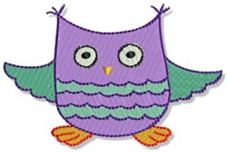Playtime Owl embroidery design