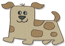 Playtime Dog embroidery design