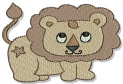 Playtime Lion embroidery design