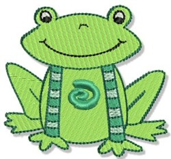 Playtime Frog embroidery design