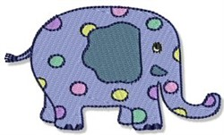Playtime Elephant embroidery design