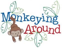 Tiny Tots Monkey embroidery design