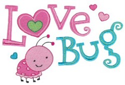 Tiny Tot Love Bug embroidery design
