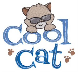 Tiny Tot Cool Cat embroidery design