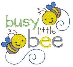 Tiny Tot Busy Bees embroidery design
