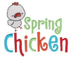 Tiny Tot Spring Chicken embroidery design