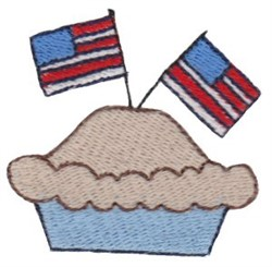 Patriotic Mini Apple Pie embroidery design