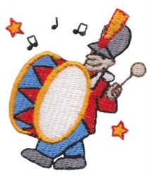 Patriotic Mini Drummer embroidery design