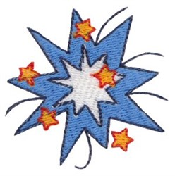 Patriotic Mini Starburst embroidery design