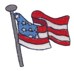 Patriotic Mini Flag embroidery design