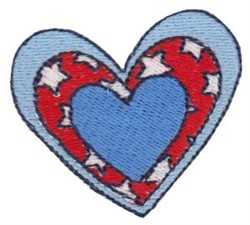 Patriotic Mini Hearts embroidery design