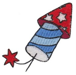Patriotic Mini Firework embroidery design