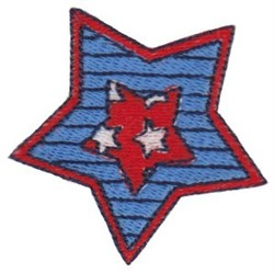 Patriotic Mini Star embroidery design
