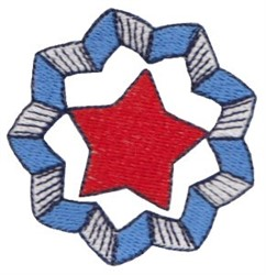 Patriotic Mini Wreath embroidery design