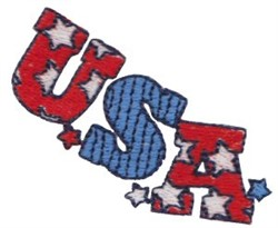 Patriotic Mini USA embroidery design