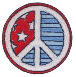 Patriotic Mini Peace Sign embroidery design