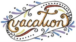 Vacation embroidery design