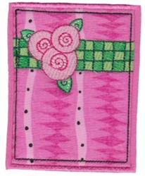 Applique Rose Rectangle embroidery design