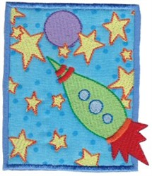 Applique Space Ship embroidery design