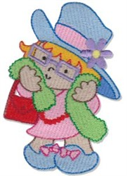 Girls Dress Up embroidery design