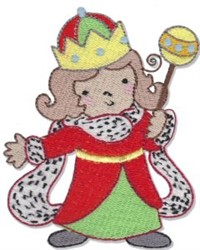 Girl Queen embroidery design