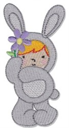 Girl Bunny embroidery design