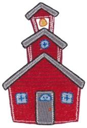 School Building embroidery design