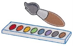 Watercolor Paints embroidery design