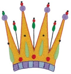 Tall Crown embroidery design
