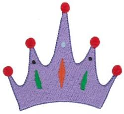 Purple Crown embroidery design