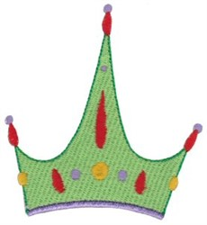 Green Crown embroidery design