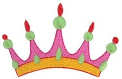 Spiked Crown embroidery design